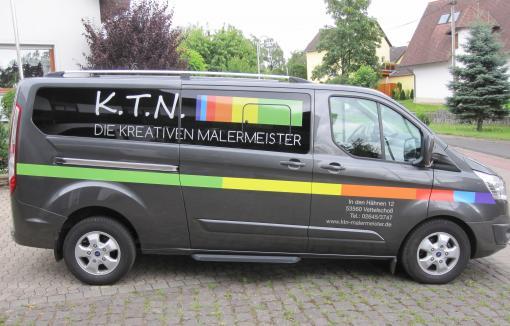 KFZ-Beschriftung mit Digitaldruck und Folienschnitt
