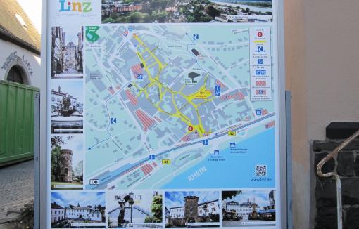 Stadtplan mit Anti-Graffiti-Laminat
